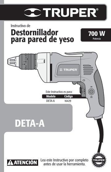 Destornillador para pared de yeso Drywall screwdriver - truper