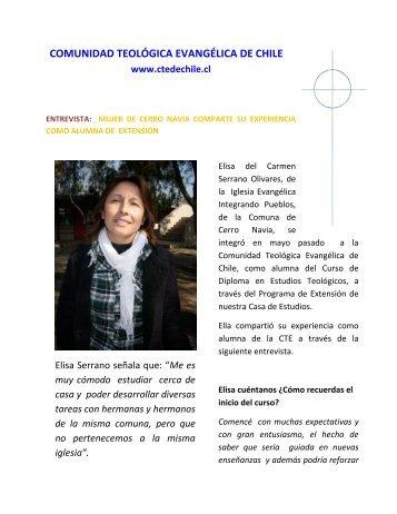 Entrevista a alumna de Extensin - Comunidad Teológica Evangélica ...