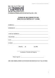 Download do Arquivo do Edital - Ministério do Trabalho e Emprego