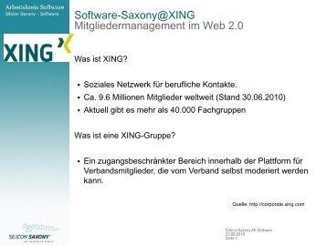 XING-Gruppe - Arbeitskreis Software