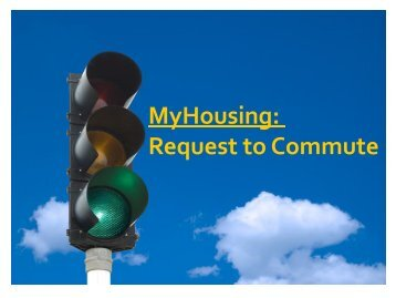 MyHousing: Request to Commute - Student Life