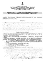 bando 2° asta Torre B - Comune di Reggio Emilia