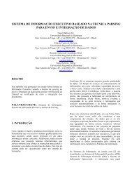 Sistema de Informação Executivo Baseado na Técnica Parsing para ...