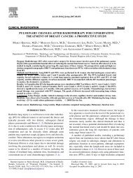 pulmonary changes after radiotherapy for conservative treatment of ...