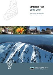Strategic Plan 2008-2011 for the Australian Alps national parks Co ...