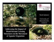 Addressing the Impact of Road-Stream Crossing Structures on the ...