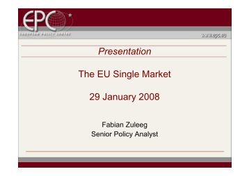 Internal Market policies (Trade 2008) - Eurochambres Academy