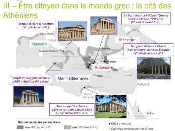 III – Une cité du monde grec au Ve siècle avant Jésus-Christ : Athènes