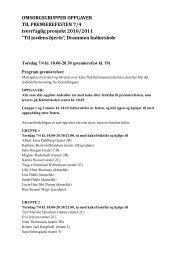 OMSORGSGRUPPER OPPGAVER TIL PREMIEREFESTEN 7/4 ...