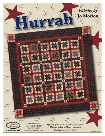 Hurrah Cover - 3 Dudes Quilting