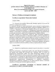 Raport Matricea 2008-2009 - Ministerul Sănătăţii