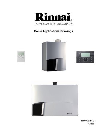 800000026 Rev B Boiler Applications Drawings - Rinnai