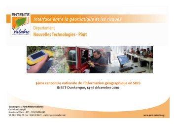 Télécharger la présentation du PôNT - Pôle Nouvelles Technologies