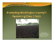 Protecting Washington County's Remaining Class I ... - Save Helvetia!