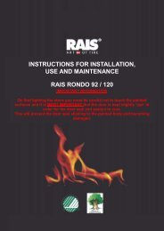 INSTRUCTIONS FOR INSTALLATION, USE AND ... - Robeys Ltd