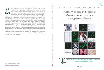 Autoantibodies in Systemic Autoimmune Diseases - (GFID) eV