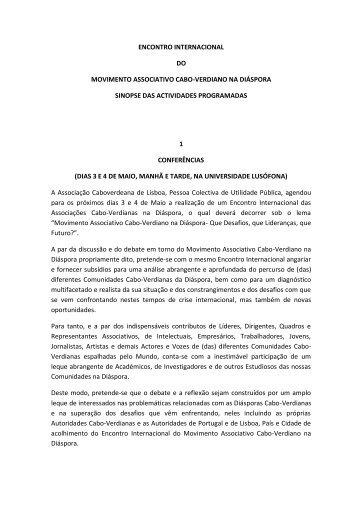 encontro internacional do movimento associativo cabo-verdiano na ...