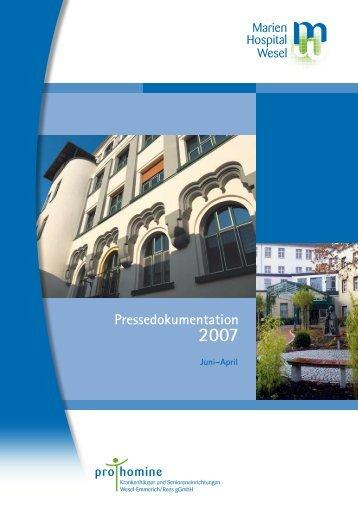 Pressedokumentation - Marien-Hospital Wesel