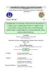 Contribution à l'étude de l'influence du traitement à l'urée et ... - BEEP