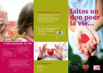 faites un don pour la vie… - RTL.lu
