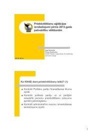 Priekšvēlēšanu aģitācijas ierobežojumi pirms 2013.gada ... - KNAB