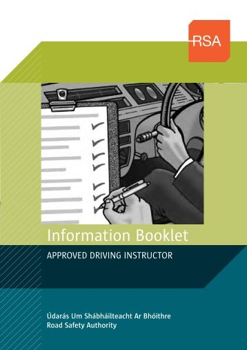 ADI Information booklet (163kB) - Road Safety Authority