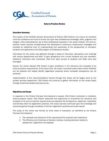 CGA Ontario Entry-to-Practice Review Page 1 Entry-to-Practice ...