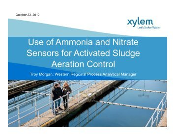 Use of Ammonia and Nitrate Sensors for Activated Sludge ... - pncwa