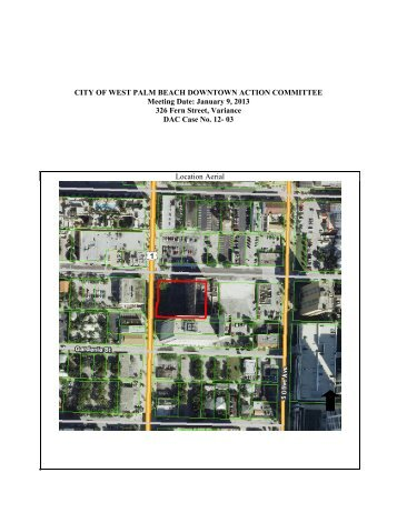 Downtown Action Committee Case No - City of West Palm Beach