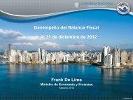 Balance Fiscal Cierre 2012 - Ministerio de Economía y Finanzas