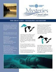 THE GREAT LAKES – GEOGRAPHY AND HISTORY - Science North