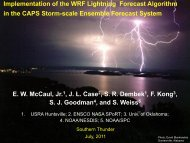 Implementation of the WRF Lightning Forecast Algorithm ... - GOES-R