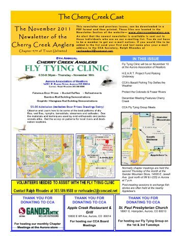 November 2011 Newsletter - Cherry Creek Anglers