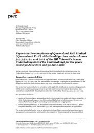 2010/11 and 2011/12 Audit Report - Queensland Rail