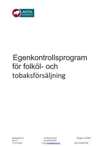 Egenkontroll tobak och folköl - Avesta