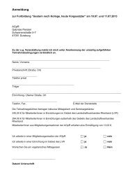 Anmeldebogen hier - AGpR