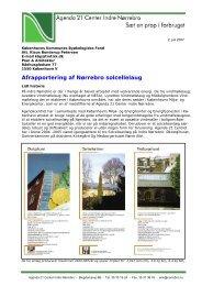 Afrapportering af Nørrebro solcellelaug