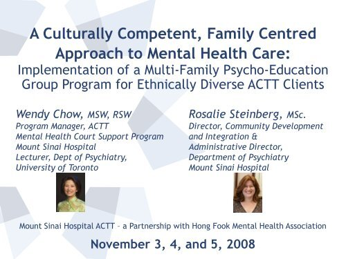 Mount Sinai - Family Centred Mental Health Care - Point Alliance