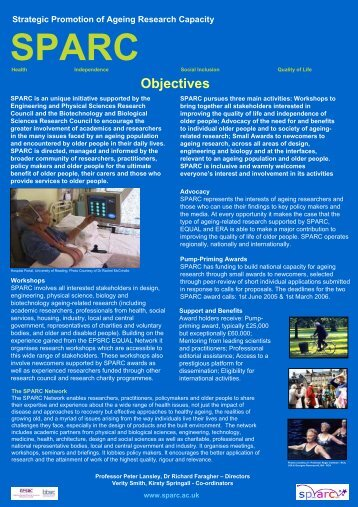 Objectives - SPARC
