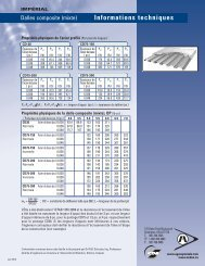 Informations techniques - Dalles composites ... - Agway Metals Inc