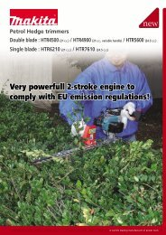 Very powerfull 2-stroke engine to comply with EU emission ... - Makita
