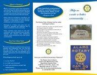 Help us create a better community . . . - Rotary Club of Alamo