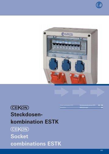 Steckdosen- kombination ESTK Socket combinations ESTK
