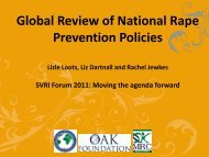 Global Review of National Rape Prevention Policies - Sexual ...