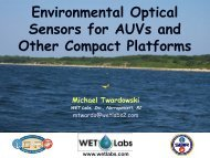 Environmental Optical Sensors for AUVs and Other Compact Platforms