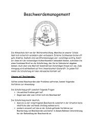 Beschwerdemanagement - Almeschule Wewer