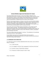 PDF Version of Duck Standards - Animal Welfare Approved