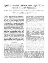 Dynamic Spectrum Allocation under Cognitive ... - Researcher - IBM