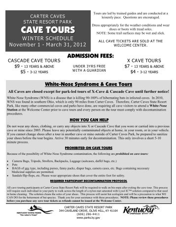 Carter Cave Tours - Kentucky State Parks