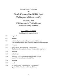 North Africa and the Middle East: Challenges and Opportunities